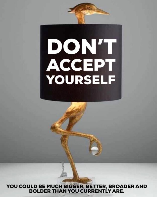 Don't Accept Yourself